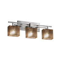 Fusion LED 26 inch Brushed Nickel Vanity Light Wall Light in 2100 Lm 3 Light LED, Mercury Glass, Rectangle