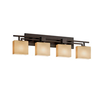 Fusion LED 36 inch Dark Bronze Vanity Light Wall Light in Rectangle, Almond, 2800 Lm 4 Light LED