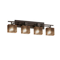 Justice Design Group Fusion LED Vanity Light in Dark Bronze FSN-8704-55-MROR-DBRZ-LED4-2800