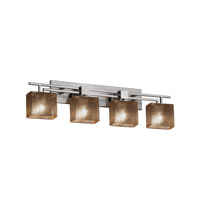 Fusion LED 36 inch Brushed Nickel Vanity Light Wall Light in Rectangle, Mercury Glass, 2800 Lm 4 Light LED