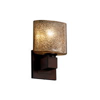 Fusion 1 Light 7 inch Dark Bronze ADA Wall Sconce Wall Light in Oval, Mercury Glass, Incandescent