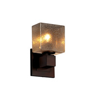 Justice Design Group Fusion LED Wall Sconce in Dark Bronze FSN-8707-55-MROR-DBRZ-LED1-700
