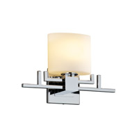 Justice Design Fusion Aero Ada 1-Light Wall Sconce in Polished Chrome FSN-8711-30-OPAL-CROM