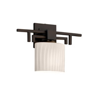 Justice Design Fusion Aero Ada 1-Light Wall Sconce in Dark Bronze FSN-8711-30-RBON-DBRZ