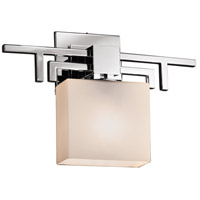 Fusion LED 14 inch Polished Chrome ADA Wall Sconce Wall Light in 700 Lm 1 Light LED, Opal, Rectangle