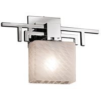Fusion LED 14 inch Polished Chrome ADA Wall Sconce Wall Light in 700 Lm 1 Light LED, Weave, Rectangle