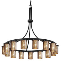 Fusion 15 Light 42 inch Matte Black Chandelier Ceiling Light