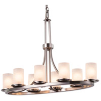 Fusion 8 Light 16 inch Brushed Nickel Chandelier Ceiling Light