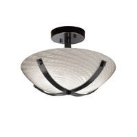 Justice Design Dakota 2 Light Semi-Flush in Matte Black FSN-8760-35-WEVE-MBLK