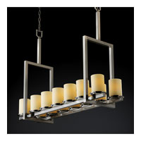 Justice Design Fusion Dakota 14-Light Bridge Chandelier (Tall) in Brushed Nickel FSN-8764-10-OPAL-NCKL