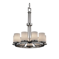 Fusion 9 Light 23 inch Brushed Nickel Chandelier Ceiling Light in Opal