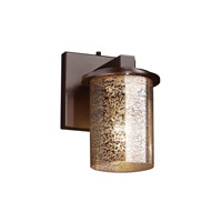 Justice Design FSN-8771-10-MROR-DBRZ Fusion 1 Light 5 inch Dark Bronze Wall Sconce Wall Light in Mercury Glass
