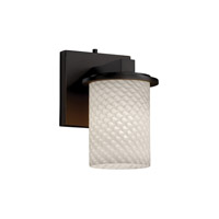 Justice Design Fusion Dakota 1-Light Wall Sconce in Dark Bronze FSN-8771-10-WEVE-DBRZ