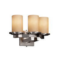 Justice Design Dakota 3 Light Wall Sconce in Brushed Nickel FSN-8776-10-ALMD-NCKL