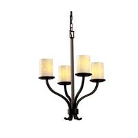 Justice Design Fusion Sonoma 4-Light Chandelier in Dark Bronze FSN-8780-10-DROP-DBRZ
