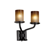 Justice Design FSN-8782-10-CRML-MBLK Sonoma 2 Light 13 inch Matte Black Wall Sconce Wall Light in Caramel thumb