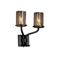 Justice Design Fusion Sonoma 2-Light Wall Sconce (Short) in Matte Black FSN-8782-10-MROR-MBLK