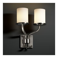Justice Design Fusion Sonoma 2-Light Wall Sconce (Short) in Brushed Nickel FSN-8782-10-OPAL-NCKL