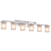 Justice Design FSN-8786-10-WEVE-CROM-LED6-4200 Fusion LED 45 inch Polished Chrome Bath Bar Wall Light in 4200 Lm LED, Weave