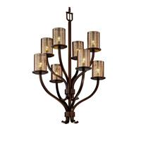 Justice Design Fusion Sonoma 8-Light 2-Tier Chandelier in Dark Bronze FSN-8788-10-MROR-DBRZ