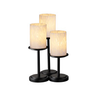 Justice Design Fusion Dakota 3-Light Table Lamp in Matte Black FSN-8797-10-DROP-MBLK