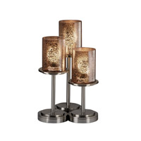 Justice Design Fusion Dakota 3-Light Table Lamp in Brushed Nickel FSN-8797-10-MROR-NCKL