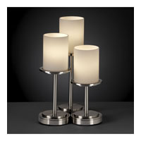 Justice Design Fusion Dakota 3-Light Table Lamp in Brushed Nickel FSN-8797-10-OPAL-NCKL