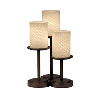 Justice Design FSN-8797-10-WEVE-DBRZ Fusion 16 inch 60 watt Dark Bronze Table Lamp Portable Light in Weave