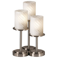 Fusion 16 inch 60 watt Brushed Nickel Table Lamp Portable Light in Weave