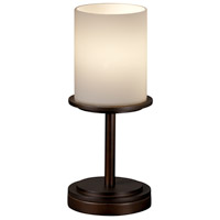 Justice Design Fusion Dakota 1-Light Table Lamp (Short) in Dark Bronze FSN-8798-10-OPAL-DBRZ