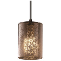 Justice Design Fusion Mini 1-Light Pendant in Matte Black FSN-8815-10-MROR-MBLK