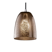 Justice Design Fusion Mini 1-Light Pendant in Polished Chrome FSN-8815-18-MROR-CROM photo thumbnail