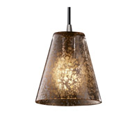 Justice Design Fusion Mini 1-Light Pendant in Brushed Nickel FSN-8815-50-MROR-NCKL