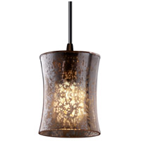 Justice Design Fusion Mini 1-Light Pendant in Dark Bronze FSN-8815-60-MROR-DBRZ