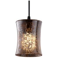 Justice Design Fusion Mini 1-Light Pendant in Matte Black FSN-8815-60-MROR-MBLK