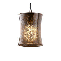 Fusion 1 Light 4 inch Brushed Nickel Pendant Ceiling Light in Cord, Mercury Glass, Hourglass