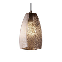 Justice Design Fusion Small 1-Light Pendant in Brushed Nickel FSN-8816-65-MROR-NCKL