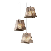 Justice Design Fusion Mini 3-Light Cluster Pendant in Brushed Nickel FSN-8818-40-MROR-NCKL