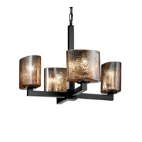 Justice Design Fusion Modular 4-Light Chandelier (Halogen) in Matte Black FSN-8820-30-MROR-MBLK