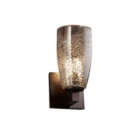 Justice Design Fusion Modular 1-Uplight Wall Sconce (Halogen) in Dark Bronze FSN-8821-28-MROR-DBRZ