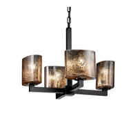 Justice Design Fusion Modular 4-Light Chandelier in Matte Black FSN-8829-30-MROR-MBLK