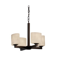 Justice Design Fusion Modular 4-Light Chandelier in Dark Bronze FSN-8829-30-RBON-DBRZ