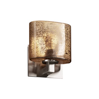 Justice Design Fusion Modular 1-Uplight Wall Sconce (Halogen) in Brushed Nickel FSN-8831-30-MROR-NCKL photo thumbnail