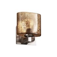 Justice Design Fusion Modular 1-Uplight Wall Sconce (Halogen) in Brushed Nickel FSN-8831-30-MROR-NCKL