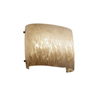 Justice Design Signature 2 Light Wall Sconce in Dark Bronze FSN-8855-DROP-DBRZ-LED-2000