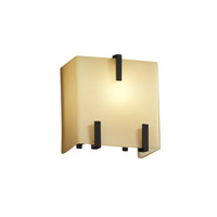 Fusion 1 Light 6 inch Matte Black ADA Wall Sconce Wall Light in Almond