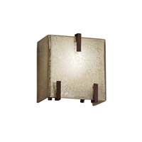 Fusion 1 Light 6 inch Dark Bronze ADA Wall Sconce Wall Light in Mercury Glass