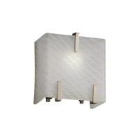 Fusion 1 Light 6 inch Brushed Nickel ADA Wall Sconce Wall Light in Weave