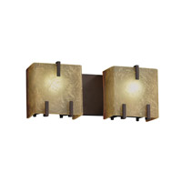Justice Design FSN-8872-CRML-DBRZ Fusion 2 Light 16 inch Dark Bronze Bath Light Wall Light in Caramel thumb