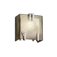 Fusion 1 Light 6 inch Polished Chrome ADA Wall Sconce Wall Light in Mercury Glass